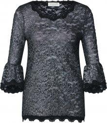 Rosemunde Tričko černá / stříbrná
