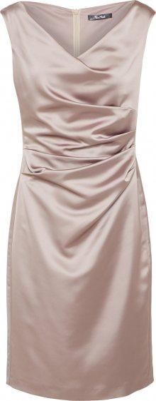 Vera Mont Koktejlové šaty šedobéžová