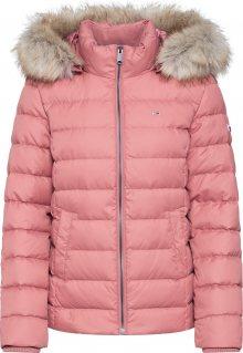 Tommy Jeans Zimní bunda růžová