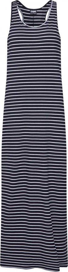 Urban Classics Letní šaty \'Ladies Long Racer Back Dress\' černá / bílá