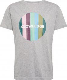 KnowledgeCotton Apparel Tričko šedá / mix barev