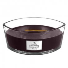 WoodWick Vonná svíčka loď Black Plum Cognac 453,6 g