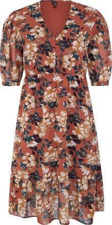 Vero Moda Curve Šaty \'VMWILMA\' hnědá / mix barev