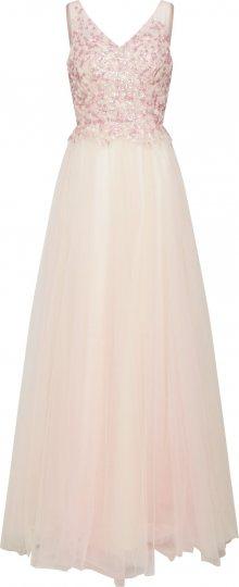 mascara Společenské šaty \'Beads Dress\' champagne / růžová