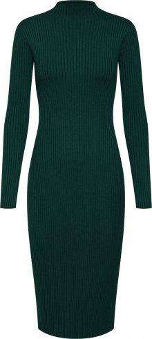 EDITED Úpletové šaty \'Hada\' zelená / tmavě zelená