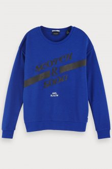 Scotch & Soda modrá mikina Artwork Ams. Blauw - XS