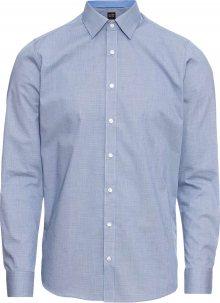 OLYMP Společenská košile \'Level 5 Faux Uni\' marine modrá