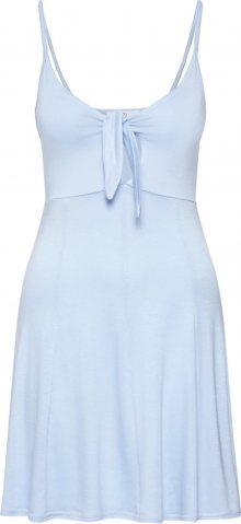 Missguided Šaty \'STRAPPY TIE FRONT SKATER DRESS\' modrá