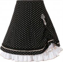 MARJO Krojová sukně bílá / černá