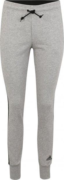 ADIDAS PERFORMANCE Sportovní kalhoty světle šedá / černá