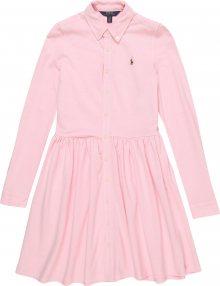 POLO RALPH LAUREN Šaty \'OXFORD DRESS-DRESSES-KNIT\' růžová