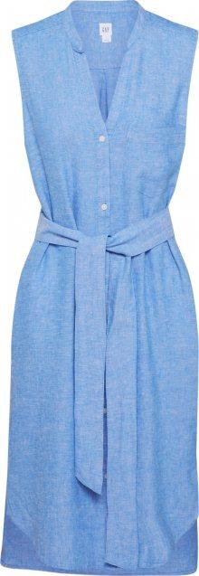 GAP Košilové šaty světlemodrá