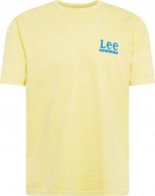 Lee Tričko světlemodrá / pastelově žlutá