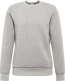 JACK & JONES Mikina \'BUTTON\' šedá