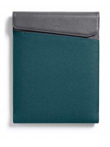 Šedo-modrý obal na notebook s koženými detaily  Bellroy Laptop Sleeve Extra 15\