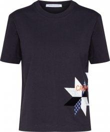 Calvin Klein Jeans Tričko \'INSTITUTIONAL QUILT\' černá