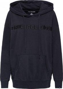 True Religion Mikina \'CREW SWEAT FLEECE\' černá