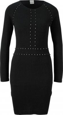 heine Úpletové šaty černá