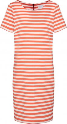 VILA Šaty \'VITinny New\' oranžová / bílá