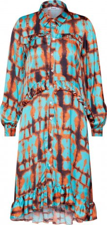 Liebesglück Košilové šaty \'LG009200\' tyrkysová / oranžová
