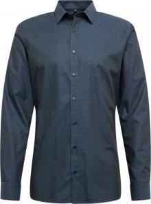 OLYMP Společenská košile \'No. 6 Struktur\' námořnická modř
