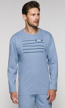 Pánské dlouhé pyžamo Regina 536 | modrá | M