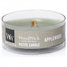 WoodWick Aromatická malá svíčka s dřevěným knotem Applewood 31 g