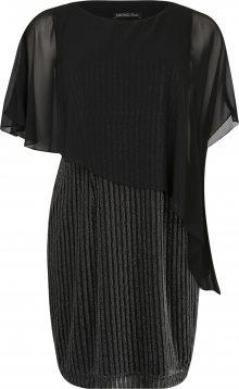 SWING Curve Šaty černá / stříbrná