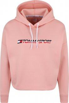 Tommy Sport Sportovní mikina růžová