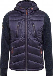 Superdry Zimní bunda \'STORM HYBRID ZIPHOOD\' námořnická modř
