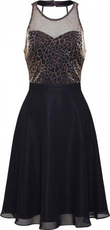 SWING Koktejlové šaty zlatá / černá