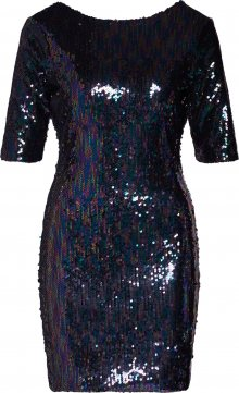 Boohoo Šaty \'Sequin Mini Dress with Scoop Back\' modrá