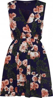 Mela London Letní šaty \'BLOSSOM ROSES\' námořnická modř