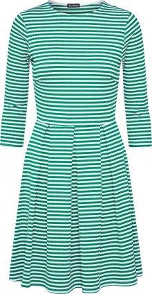 Boohoo Šaty zelená / bílá