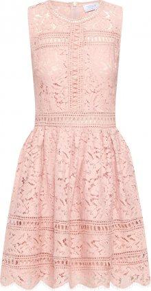 Carolina Cavour Koktejlové šaty \'Lace and embroidery\' pink