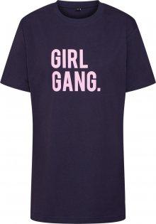Merchcode Tričko \'Ladies Girl Gang Tee\' námořnická modř