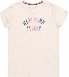 TOMMY HILFIGER Tričko \'NYC GLITTER FOIL PRI\' barva vaječné skořápky