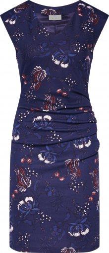Kaffe Pouzdrové šaty \'KAmally India Dress\' tmavě modrá / bílá