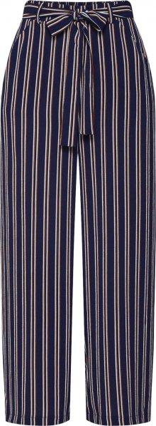 PIECES Kalhoty \'Nellie\' námořnická modř / tmavě oranžová / bílá