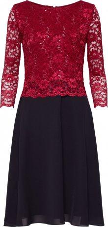 SWING Koktejlové šaty vínově červená / černá