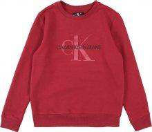 Calvin Klein Jeans Mikina červenofialová