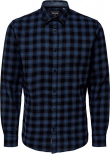 ONLY&SONS Pánská košile ONSEMIL LS FLANNEL CHECK SHIRT Insignia Blue S