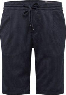 TOM TAILOR DENIM Kalhoty námořnická modř / tmavě šedá