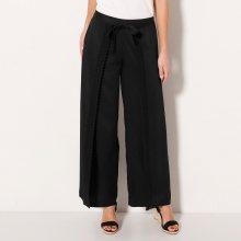Blancheporte Široké kalhoty s macramé černá 36