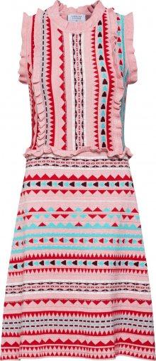 Carolina Cavour Letní šaty mix barev / růžová