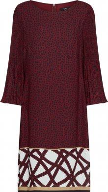 s.Oliver BLACK LABEL Šaty bílá / červená třešeň