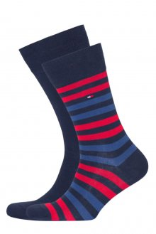 Tommy Hilfiger 2 pack pánských ponožek TH Men Duo Stripe Sock 2P - 43-46