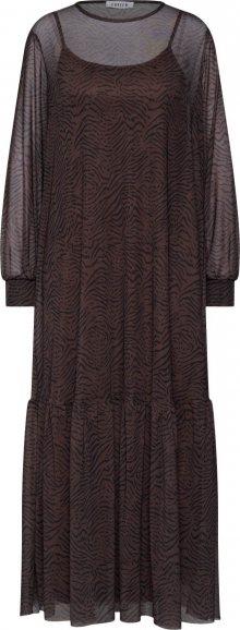 EDITED Šaty \'Harriet\' hnědá / černá