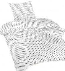Povlečení bavlna Puntík bílý | dle fotky | Povlečení bavlna Puntík šedý na bílém 140x200, 70x90 cm