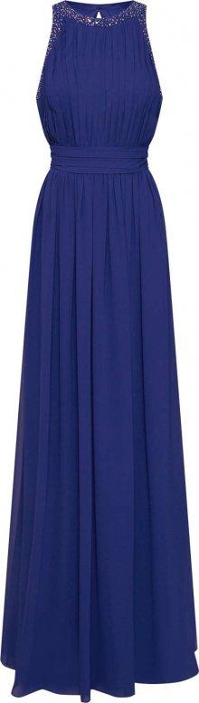STAR NIGHT Společenské šaty \'long dress chiffon\' marine modrá
